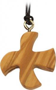 Copertina di 'Croce Taizé in legno d'ulivo con laccio'