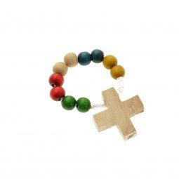 Copertina di 'Coroncina missionaria 10 grani in legno'