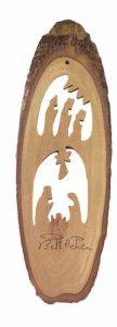 Copertina di 'Presepe con Sacra Famiglia e Magi in corteccia d'ulivo - altezza 19 cm'