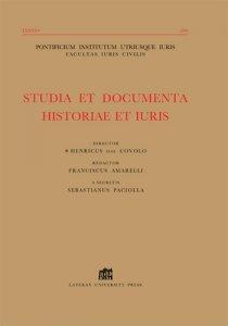 Studia et Documenta Historiae et Iuris 2012