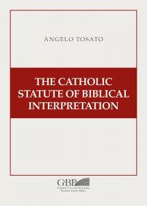 Copertina di 'The Catholic Statute of Biblical Interpretation'