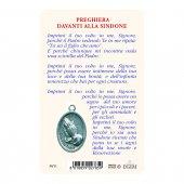 """Immagine di 'Card """"Sacra Sindone"""" con preghiera e medaglia - (10 pezzi)'"""