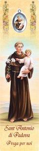 """Copertina di 'Segnalibro """"Sant'Antonio con medaglietta in polimero smaltata"""" - dimensioni 5x18 cm'"""