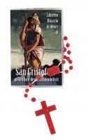 """Libretto """"Il Santo Rosario"""" con immagine di San Cristoforo e rosario"""