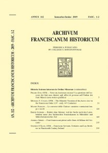 Copertina di 'The Minorite Vocation of the fratres laici in the Franciscan Order (13th - early 14th Centuries) (pp. 21-124)'