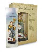 Immagine di 'Statua di San Benedetto da 12 cm in confezione regalo con segnalibro'