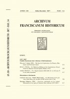 An Unknown Addition to the Constitutiones Alexandrinae by Minister General Egidio Delfini (1502)  (439-476) - Kevin L. Potter
