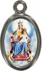 Copertina di 'Medaglia Madonna del Carmelo in metallo nichelato e resina - 1,5 cm'