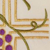 Immagine di 'Stola avorio con ricamo policromo a croce, uva e spighe, alfa e omega'