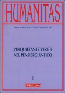 Copertina di 'Humanitas. 1/2016 L'inquietante verità nel pensiero antico.'