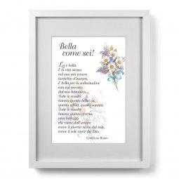 """Copertina di 'Quadro """"Bella come sei!"""" (30x40)'"""