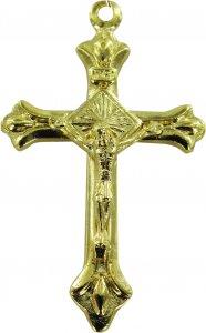 Copertina di 'Croce in metallo dorato con Cristo - 3 cm'