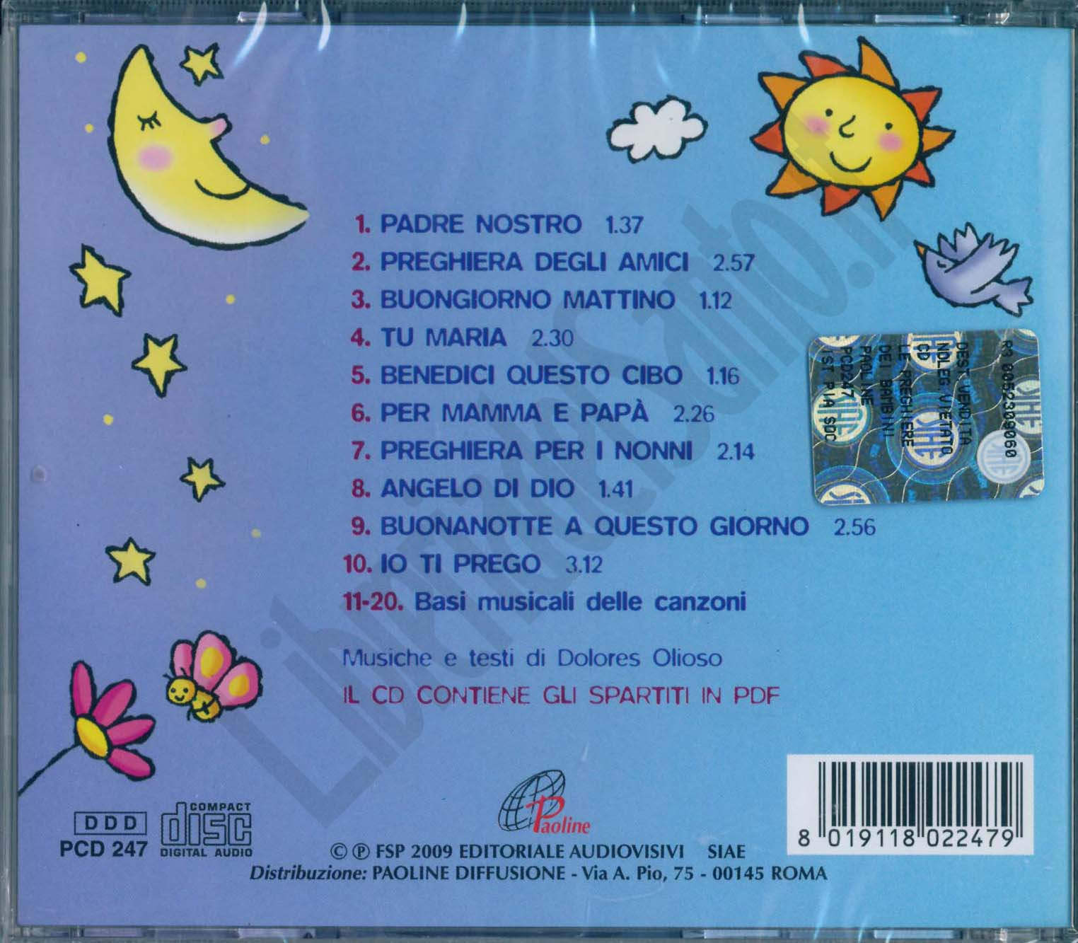 Le Preghiere Dei Bambini Dolores Olioso Cd Musica Per Bambini E Ragazzi Libreriadelsanto It