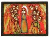 Tavola pentecoste Padre Rupnik stampa - 5,5 x 7,5 cm (Brisbane)