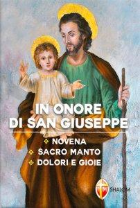 Copertina di 'In onore di san Giuseppe. Novena, Sacro Manto, Dolori e Gioie'