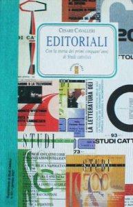 Copertina di 'Editoriali di studi cattolici'