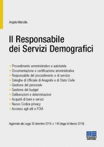 Copertina di 'Il responsabile dei servizi demografici'