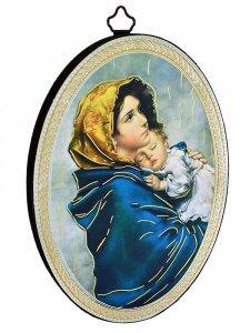 """Copertina di 'Icona ovale """"Madonna del Ferruzzi"""" - dimensioni 14,5x10,5 cm'"""