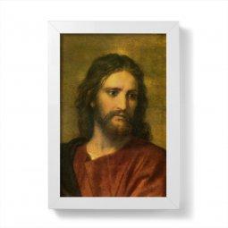 """Copertina di 'Quadretto """"Cristo Redentore"""" con cornice minimal - dimensioni 15x10 cm'"""