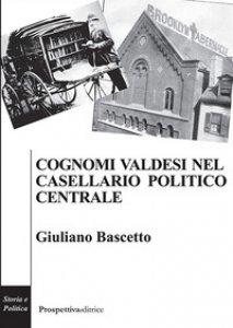 Copertina di 'Cognomi valdesi nel casellario politico centrale'
