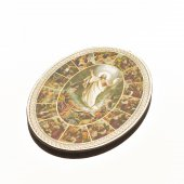 """Icona ovale """"Via Crucis"""" - dimensioni 14,5x10,5 cm"""