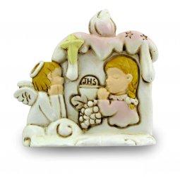 Copertina di 'Bomboniera comunione bambina: Candela in resina altezza 6,5 cm'