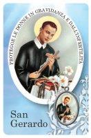 Card San Gerardo della guarigione in PVC - 5,5 x 8,5 cm - italiano