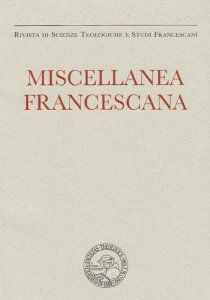 Miscellanea Francescana 2021 - n. I-Ii