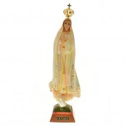 """Copertina di 'Statua sacra """"Madonna di Fatima e colombe"""" - altezza 34,5 cm'"""