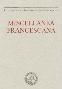 Copertina di 'Miscellanea Francescana n. I-II/2018'