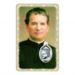 """Copertina di 'Card """"Don Bosco"""" con preghiera e medaglia - (10 pezzi)'"""