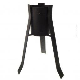Copertina di 'Portacero regolabile in ferro satinato - altezza 40 cm'