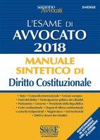 L'esame di Avvocato 2018 - Manuale sintetico di Diritto Costituzionale - Redazioni Edizioni Simone