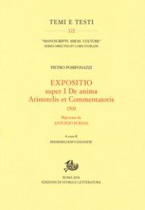 Copertina di 'Expositio super primo «De anima Aristotelis et commentatoris» (1503) riportata da Antonio Surian'