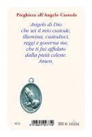 """Immagine di 'Card """"Angelo custode"""" con preghiera e medaglia - (10 pezzi)'"""