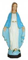 Statua da esterno della Madonna della Medaglia Miracolosa in materiale infrangibile, dipinta a mano, da 20 cm