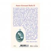 """Immagine di 'Card """"Papa Giovanni Paolo II"""" con preghiera e medaglia - (10 pezzi)'"""
