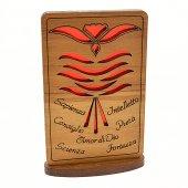 Quadretto Cresima (sfondo rosso) di  su LibreriadelSanto.it