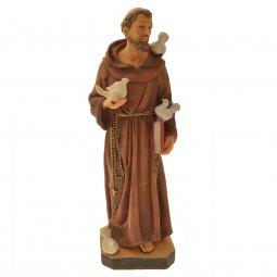 """Copertina di 'Statua in resina colorata """"San Francesco con colombe"""" - altezza 30 cm'"""