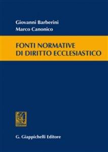 Copertina di 'Fonti normative di diritto ecclesiastico'