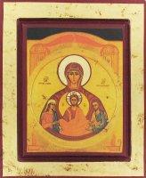 Icona degli sposi greca in legno (Nostra Signora dell'Alleanza) - 31,5 x 26 cm