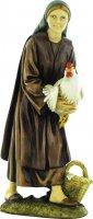 Pastorella con gallina cm 12 - Linea Martino Landi