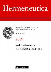 Copertina di 'Hermeneutica 2019. Annuario di filosofia e teologia'