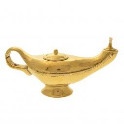 Copertina di 'Lampada di Aladino in ottone lucido dorato - lunghezza 20 cm'