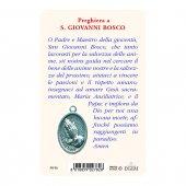 """Immagine di 'Card """"Don Bosco"""" con preghiera e medaglia - (10 pezzi)'"""