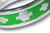 Immagine di 'Fedina rosario in argento smaltata verde con crocette mm 25'