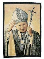 """Arazzo """"Giovanni Paolo II benedicente"""" (65cm x 46cm)"""