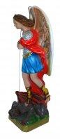 Immagine di 'Statua San Michele in gesso madreperlato dipinta a mano - 30 cm'