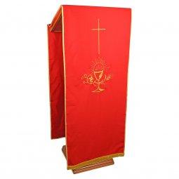 Copertina di 'Coprileggio rosso con croce e simboli Prima Comunione'