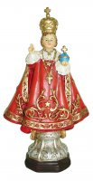 Statua del Gesù Bambino di Praga da 12 cm in confezione regalo con segnalibro in IT/EN/ES/FR